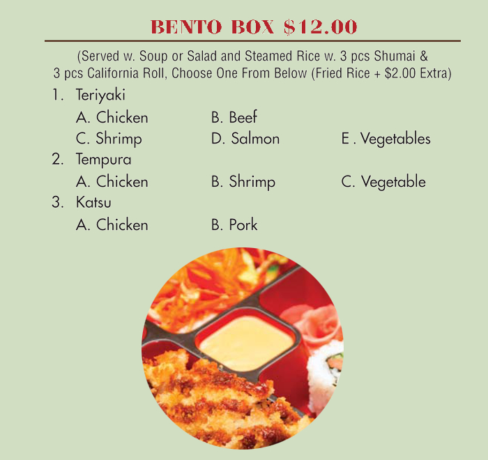 Lunch Special Bento Box